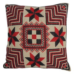 Antique Red and Black Petite Tapestry Decorative Pillow