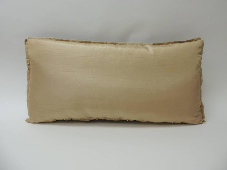 Asian Vintage Red and Brown Silk Ikat Decorative Bolster Pillow For Sale