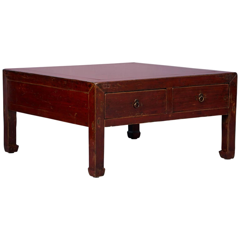 Antique Red Lacquered Chinese Coffee Table For Sale At 1stdibs