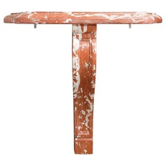 Antique Red Marble Console Table