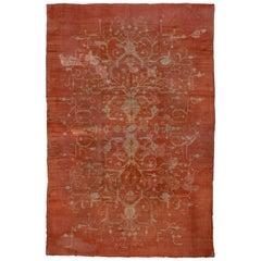 Antique Red Oushak Large Carpet, circa 1910s