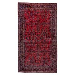 Antique Red Sarouk Carpet, Excellent Condition