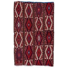 Antique Red Turkmen Rug, circa 1910s