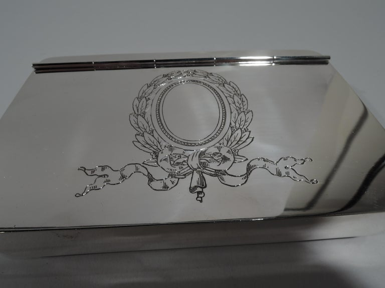 Antique Reed & Barton Edwardian Sterling Silver Jewelry Box For Sale 1