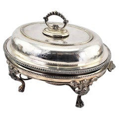 Antique Reed & Barton Silver Plated Covered Warm Food Server or Chafing Dish