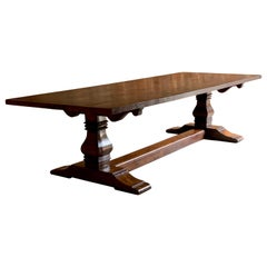 Antique Refectory Dining Table Solid Oak Huge 17th Century Style Bylaws 10 Foot