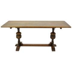Antiker Refektorium Tisch, Esstisch, Schreibtisch, Flurtisch, 1920