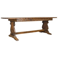 Antique Refectory Table, Oak Dining, Jacobean Taste, Seating Up to Ten