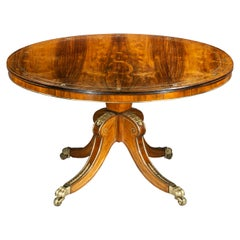 Antique Regency Center Table, Attributed to George Oakley, circa 1810