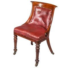 Antique Regency Desk Chair or Tub Chair, circa 1825