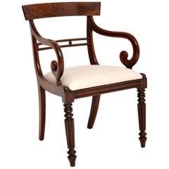 Antique Regency Mahogany Armchair / Desk Chair