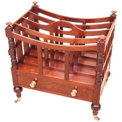Antique Regency Mahogany Boat Shaped Canterbury