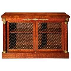 Antique Regency Mahogany Bookcase with Ormolu Mounts