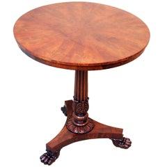 Antique Regency Mahogany Circular Lamp Table