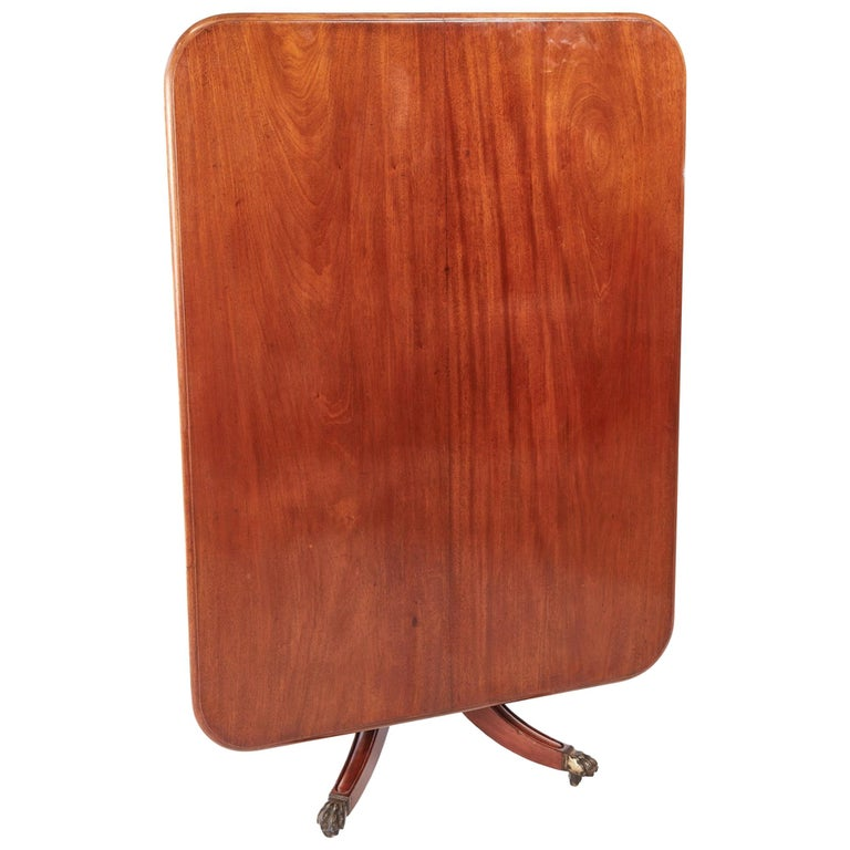 Antique Regency Mahogany Tilt-Top Centre / Dining Table For Sale