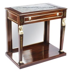 Antique Regency Marble Top & Ormolu Mounted Console Table, Early 19th Century