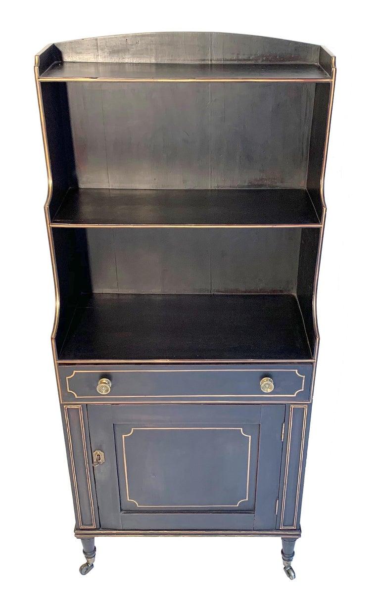 George III Antique Regency Open Bookcase Cabinet Beechwood, England, 1815 For Sale