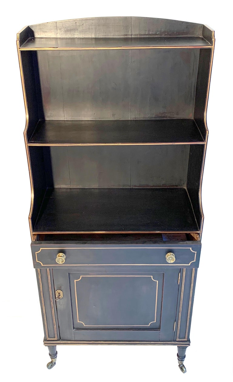 English Antique Regency Open Bookcase Cabinet Beechwood, England, 1815 For Sale
