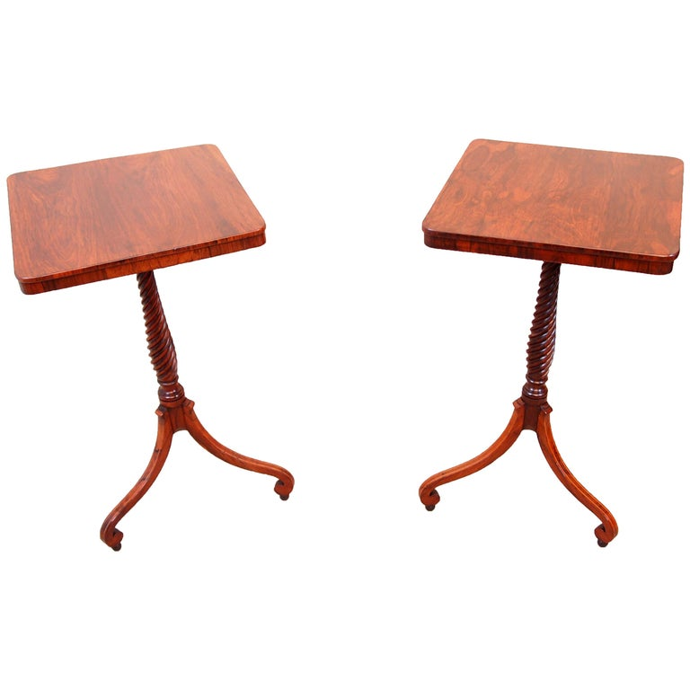Antique Regency Pair of Rosewood Wine Tables