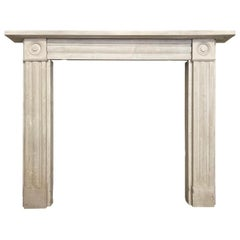 Antique Regency Portland Stone Fireplace Mantel