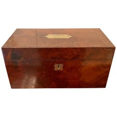 Antique Regency Quality Mahogany Tea Caddy
