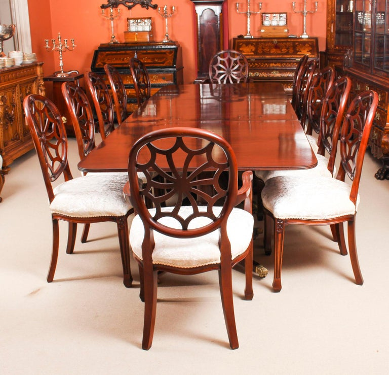 Regency Revival Dining Table Early 20th Century And 12