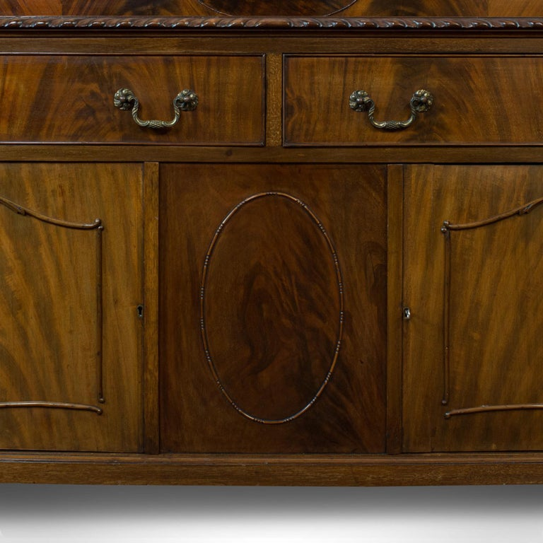 Antique Regency Revival Sideboard, English, Flame Mahogany, Victorian circa 1900 For Sale 6