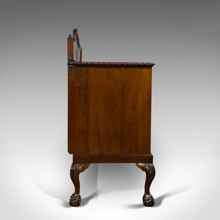 Antique Regency Revival Sideboard, English, Flame Mahogany, Victorian circa 1900 In Good Condition For Sale In Hele, Devon, GB