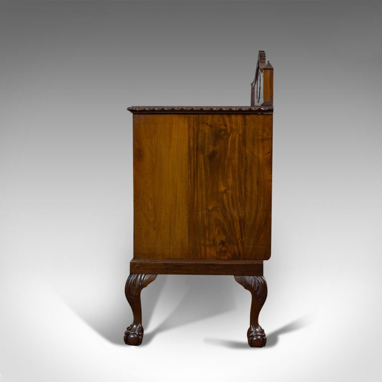 19th Century Antique Regency Revival Sideboard, English, Flame Mahogany, Victorian circa 1900 For Sale