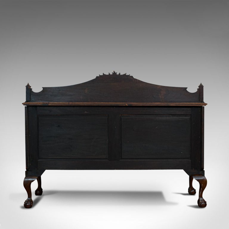 Antique Regency Revival Sideboard, English, Flame Mahogany, Victorian circa 1900 For Sale 1