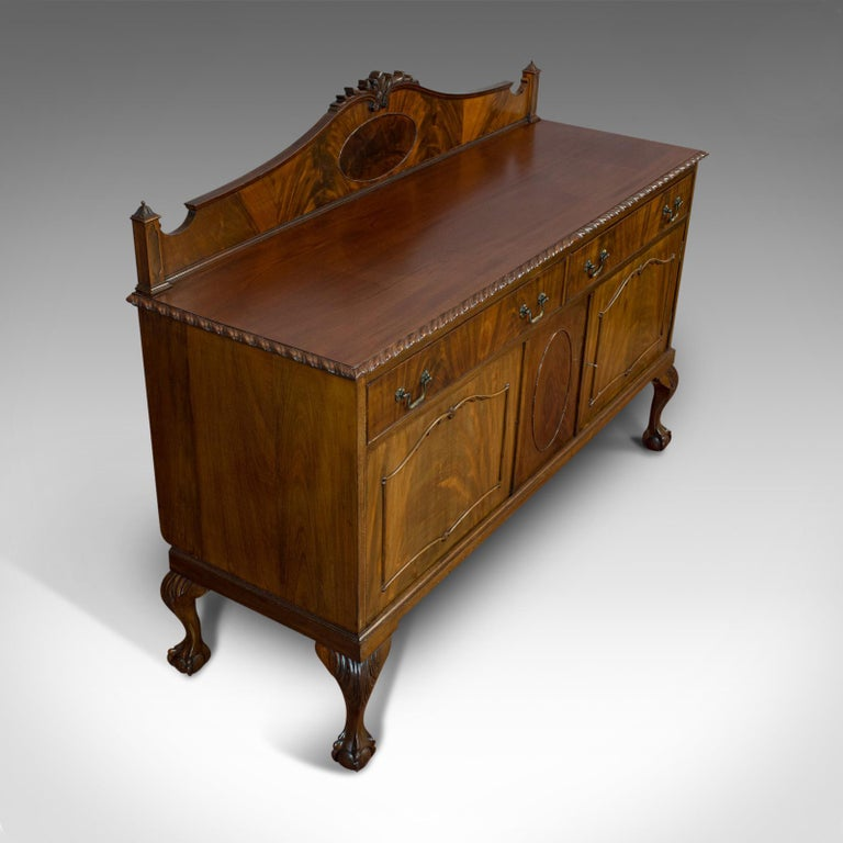 Antique Regency Revival Sideboard, English, Flame Mahogany, Victorian circa 1900 For Sale 2