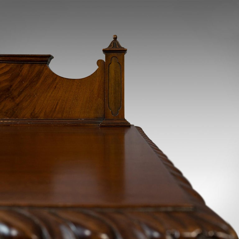 Antique Regency Revival Sideboard, English, Flame Mahogany, Victorian circa 1900 For Sale 4