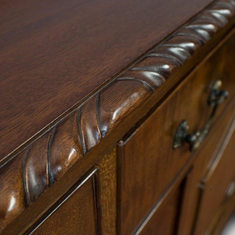 Antique Regency Revival Sideboard, English, Flame Mahogany, Victorian circa 1900 For Sale 5