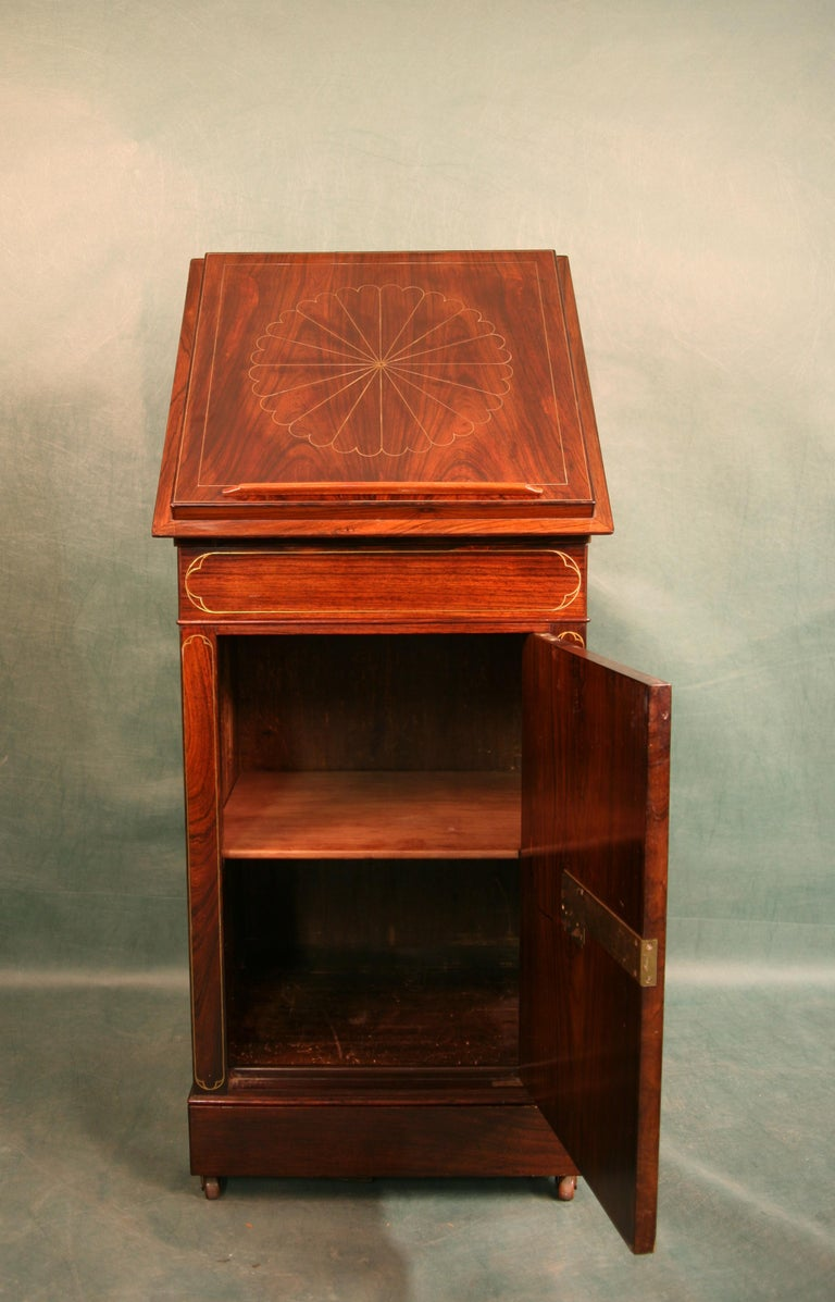 Antique Regency Rosewood Music Cabinet, circa 1820 For Sale 1