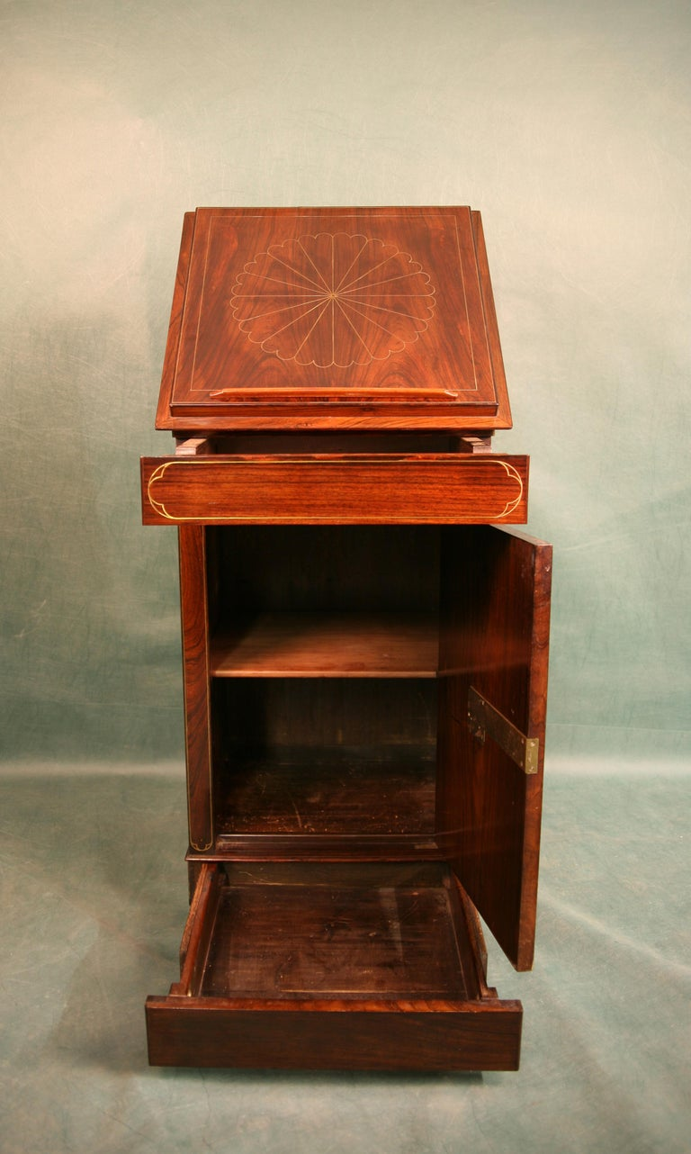 Antique Regency Rosewood Music Cabinet, circa 1820 For Sale 2