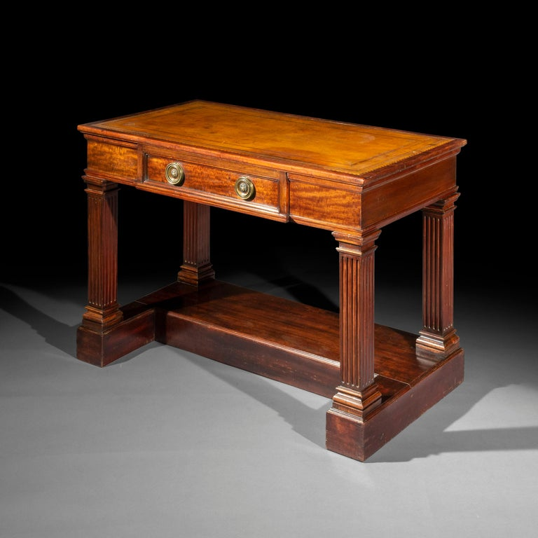 An unusual early 19th century side table of architectural form,