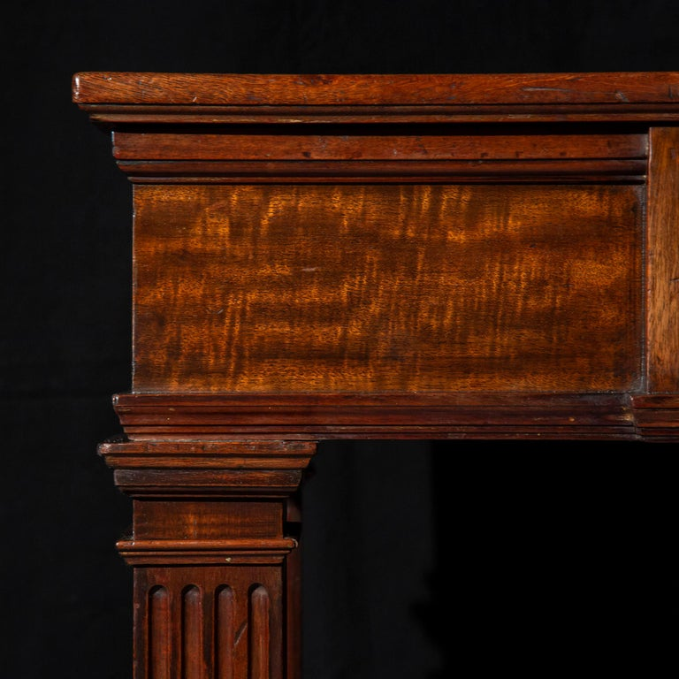 British Antique Regency Side Table or Writing Table of Architectural Form, circa 1840