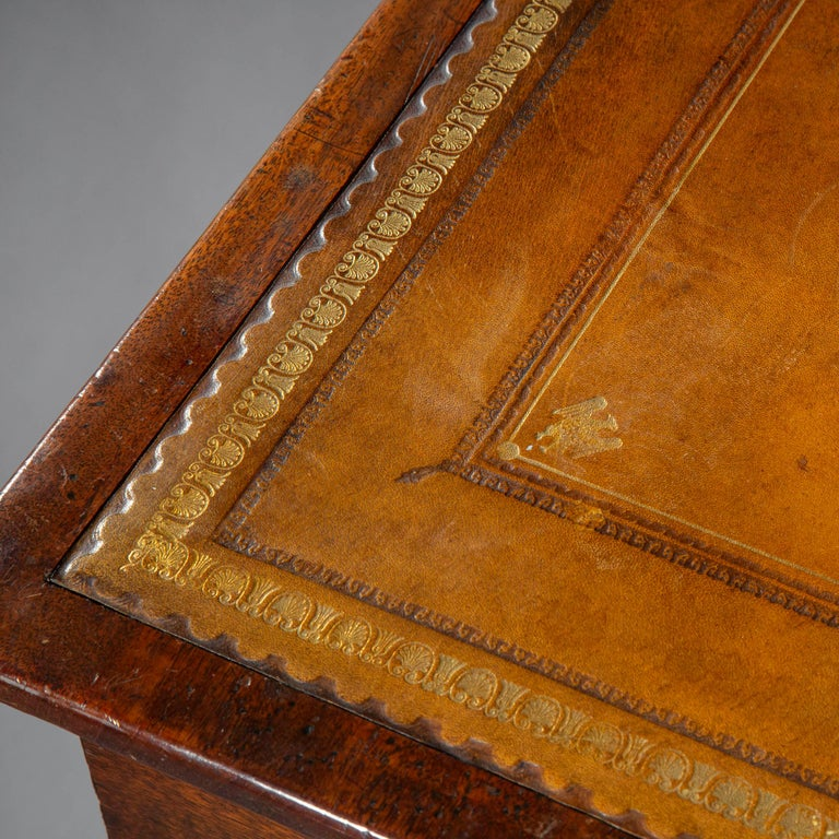 19th Century Antique Regency Side Table or Writing Table of Architectural Form, circa 1840