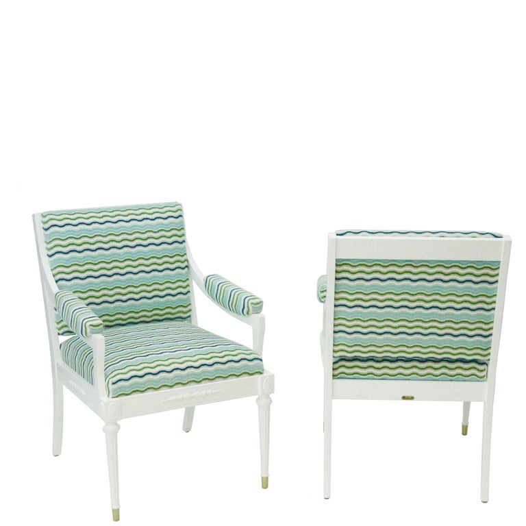 Hollywood Regency Antique Regency Style Armchairs For Sale