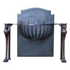 Antique Regency Style Griffin Fire Grate