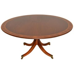 Antique Regency Style Inlaid Mahogany Tillman Dining Table