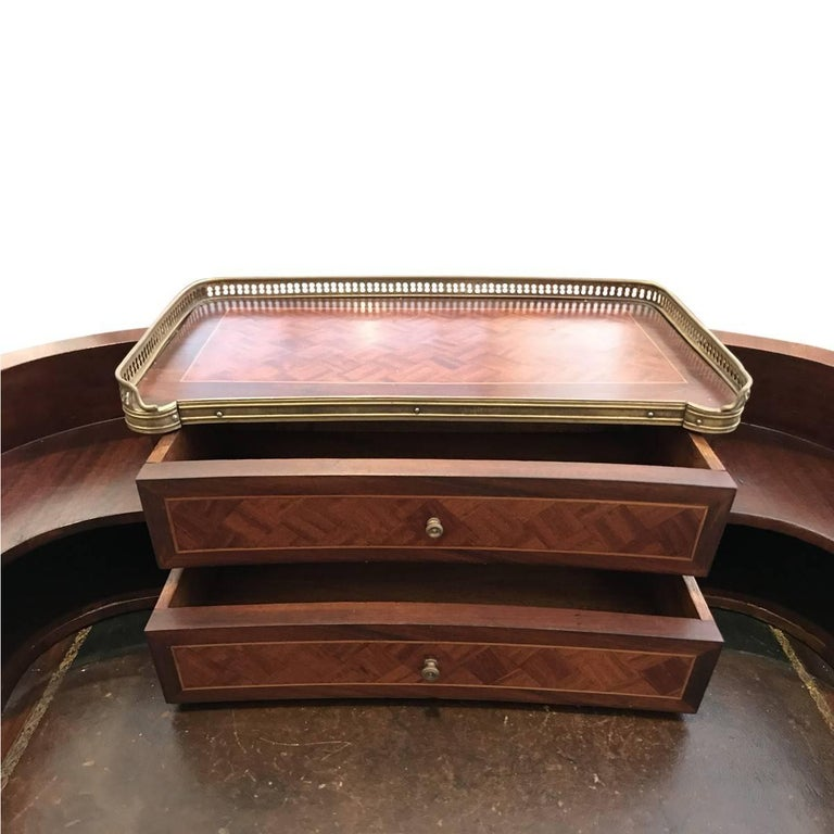 Unknown Antique Regency Style Mahogany and Leather Writing Desk For Sale