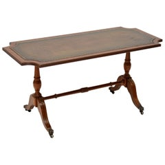 Antique Regency Style Mahogany Leather Topped Coffee Table