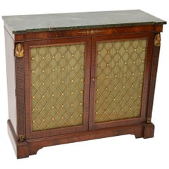 Antique Regency Style Mahogany Marble-Top Chiffonier Sideboard