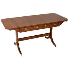 Antique Regency Style Mahogany Sofa Table