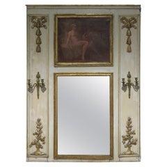 Antique Regency Style Trumeau Mirror