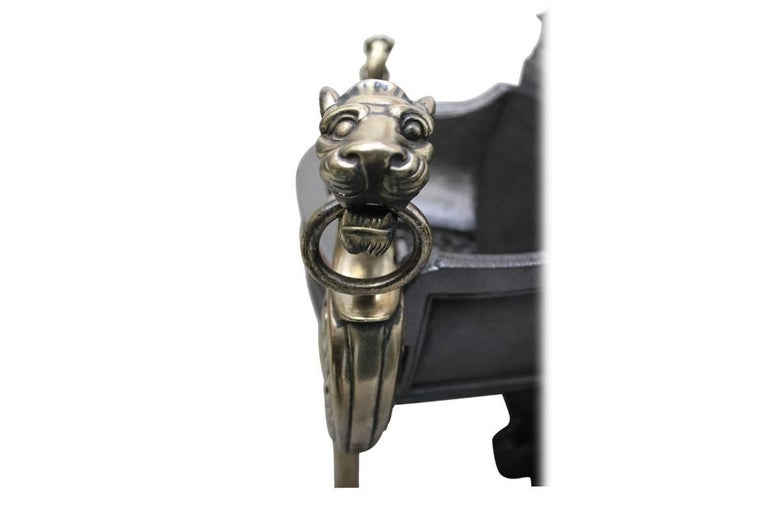 19th Century Antique Regency Style Victorian Dog Grate For Sale