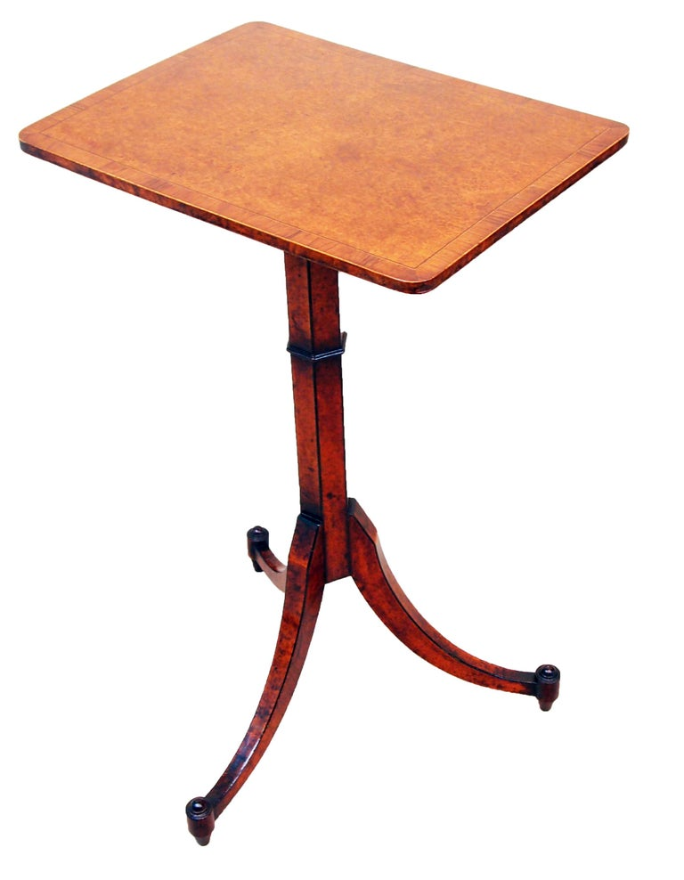 19th Century English Regency Thuya Wood Oblong Antique Wine Table For Sale