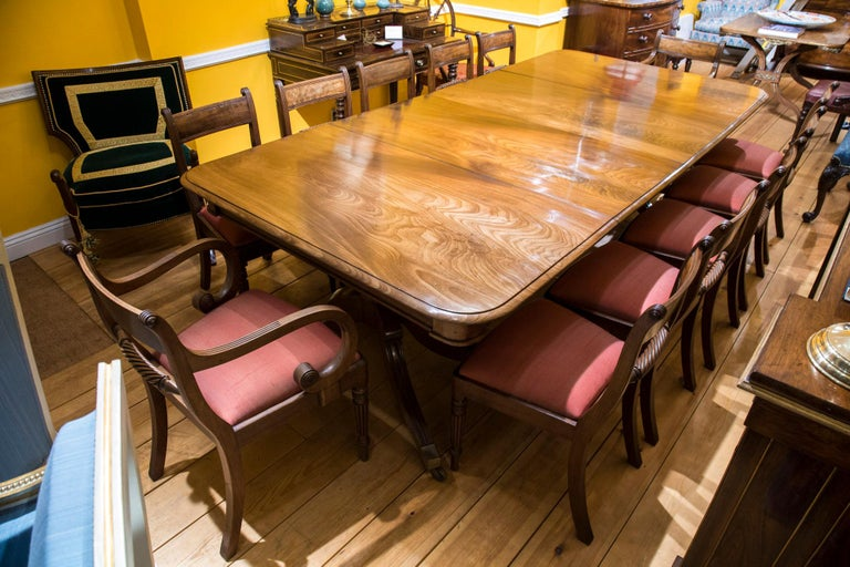 Antique Regency Two Pillar Dining Table Sits 12 People At 1stdibs