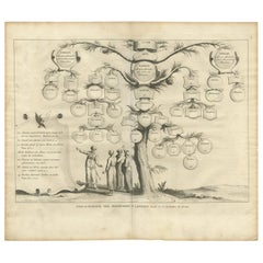 Antique Religious Print of Priests and Levites by A. Calmet, 1725
